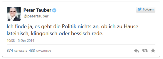 Screenshot of Twitter message by Peter Tauber.jpg